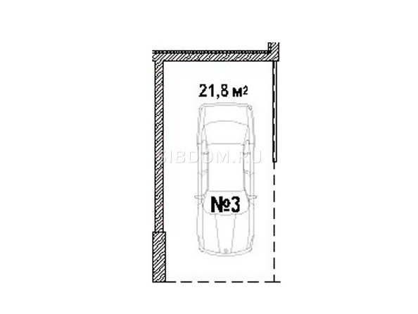 Парковка 21.8 кв.м
