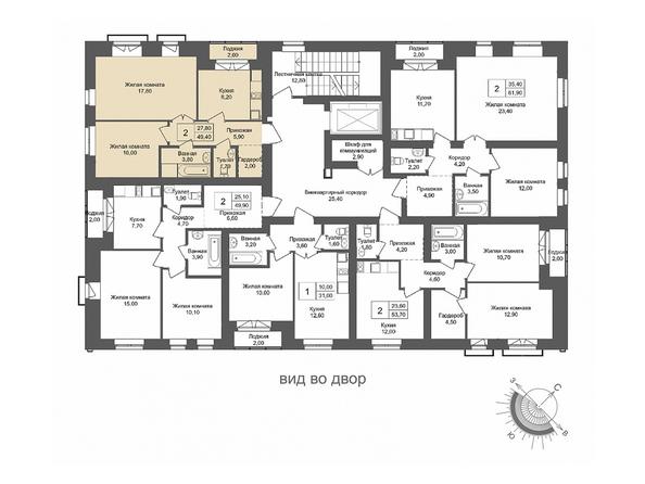 Планировки Жилой комплекс ОНЕГА, дом 4 - 2-комнатная 49,4 кв.м