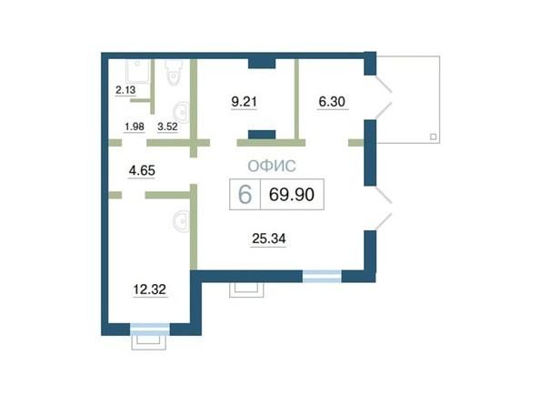 Планировка  69,9 м²