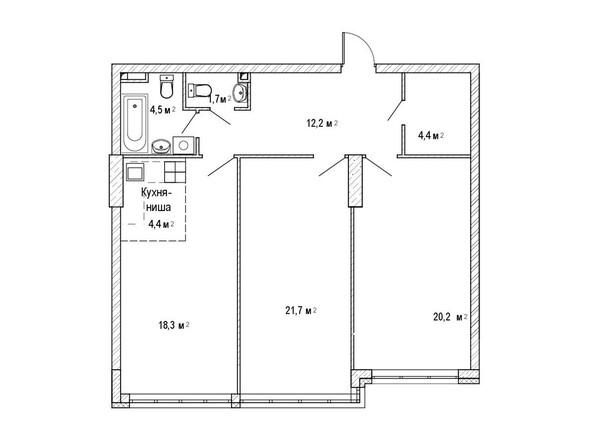3-комнатная 90,3 кв.м