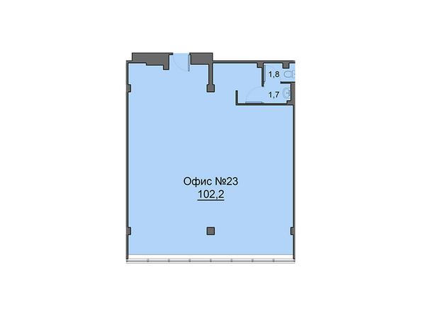 Планировки Жилой комплекс Офисно-деловой центр БИЗНЕС ПОРТ, SKY SEVEN - Четвертый этаж. Планировка офиса 102,2 кв.м