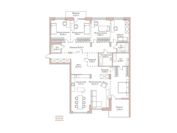 Планировка 5-комн 230,95 м²