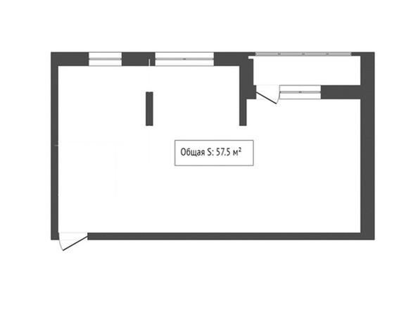 2-комнатная 57.5 кв.м