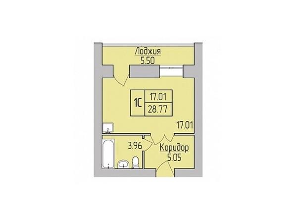 Планировки Жилой комплекс ДИВНОГОРСКИЙ, 48 - 1-комнатная 28,77 кв.м