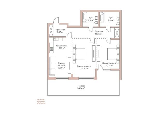 Планировка 3-комн 103,51 м²