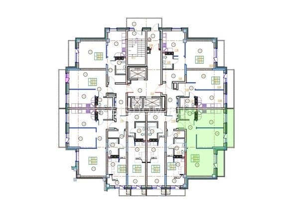 Планировки Жилой комплекс ГЛОБУС ЮГ, дом 9 - 2-комнатная 58,03 кв.м.