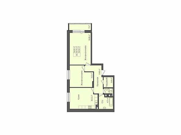 Планировки Жилой комплекс СИБИРЯЧКА - Планировка трехкомнатной квартиры 86,24 кв.м