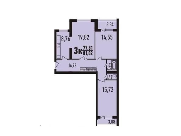 3-комнатная 81.02 - 82.1 кв.м