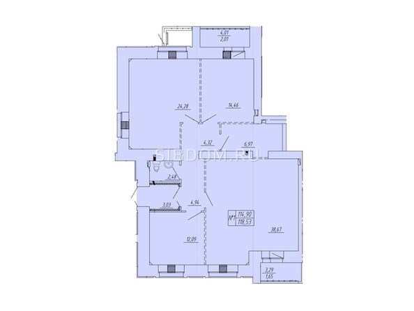 Планировка  110 м²