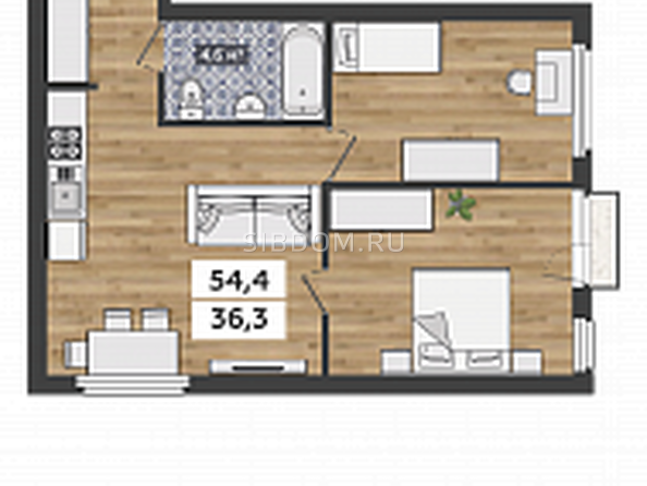 3-комнатная студия на 2-3 этажах