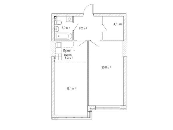 Планировка двухкомнатной квартиры 59,7 кв.м