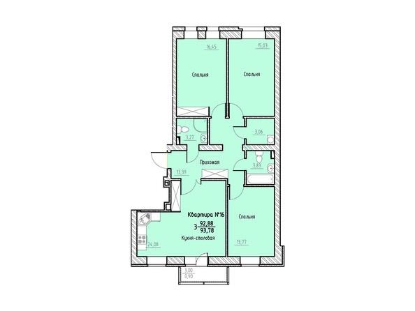 Планировка 3-комн 93,78 м²