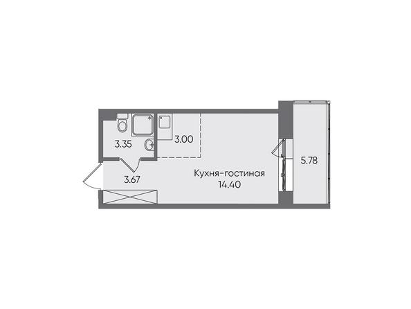 Планировки Жилой комплекс НОВЫЕ ГОРИЗОНТЫ, б/с 1 - Планировка однокомнатной квартиры 30,2 кв.м