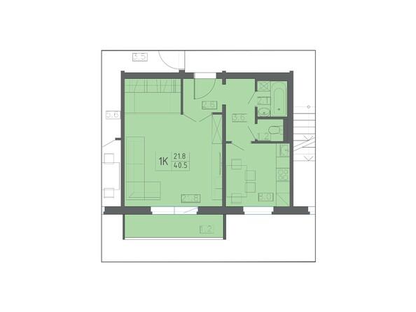 Планировки КОЛИБРИ  - Планировка однокомнатной квартиры 40,5 кв.м