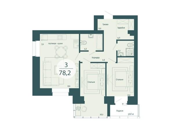 3-комнатная 78,2 кв.м