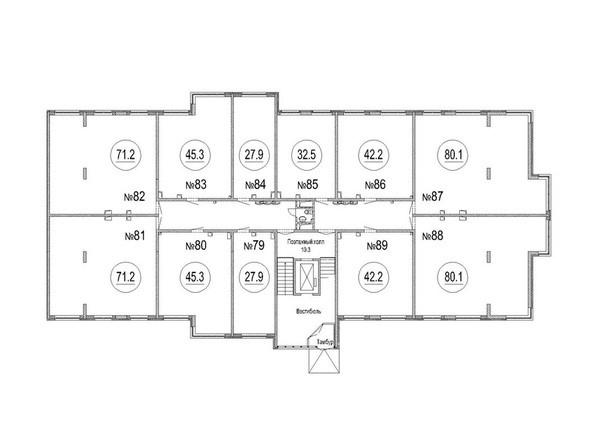 Блок-секция 2. Планировка 1 этажа