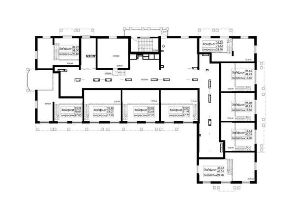 Планировки Жилой комплекс ДОМ НА БЕРЕЗОВОЙ РОЩЕ - Планировка 27 этажа