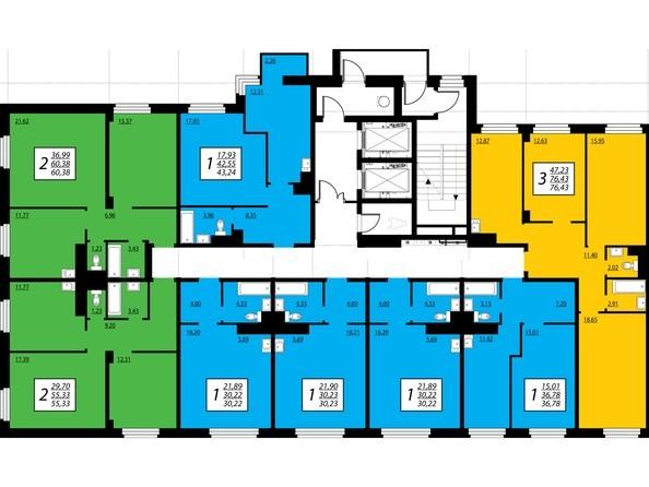 Секция 1, 2 этаж