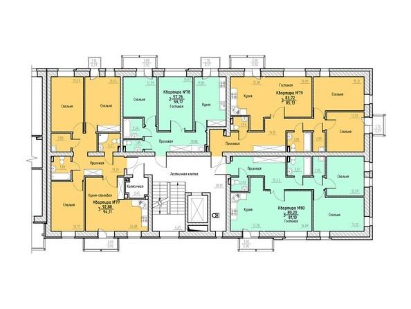 Планировка 4 этажа 4 подъезд