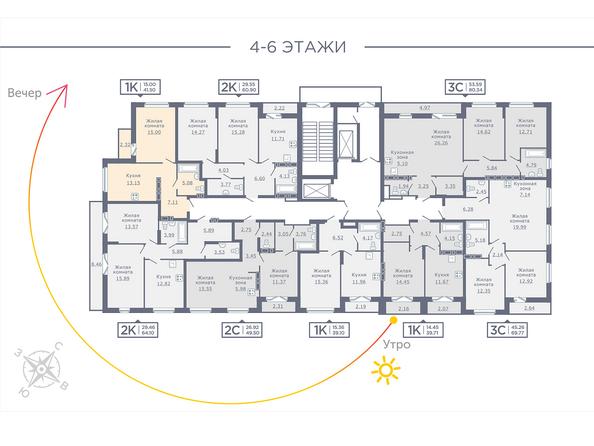 Планировка 4-6 этажей