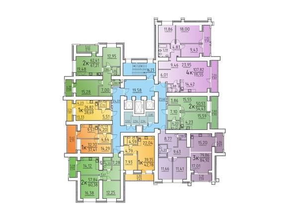 Планировка 16 этажа