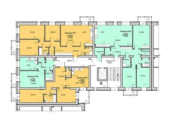 Планировка 5-6 этажей 2 подъезд.
