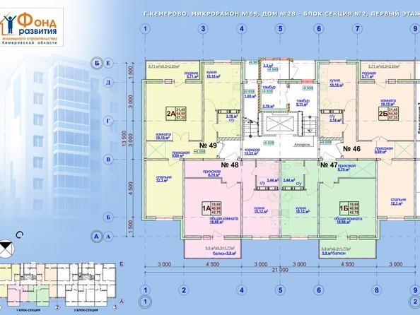 Планировки Жилой комплекс ТОМЬ, дом 28 - б/с 1. Этаж 1
