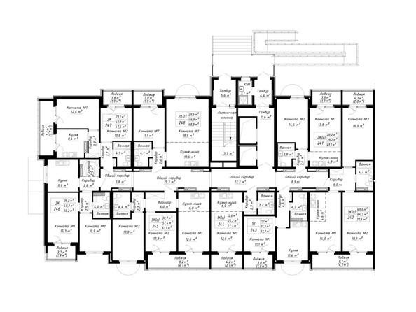 Блок-секция 3. Планировка 1 этажа