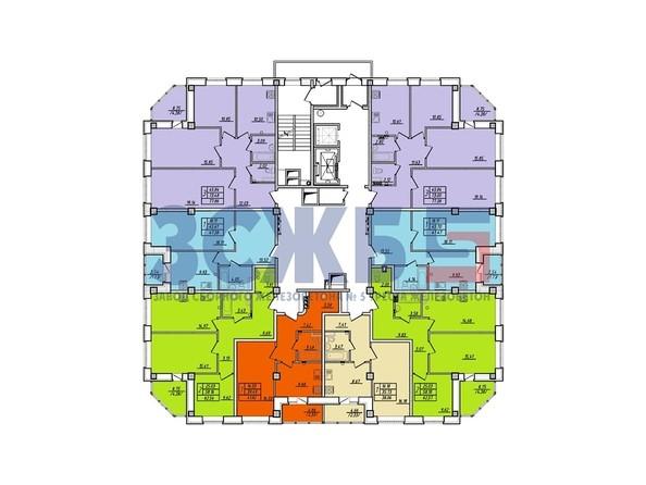 Планировки Жилой комплекс БЕРЕЗОВАЯ РОЩА, дом 8 - Планировка 14-16 этажей