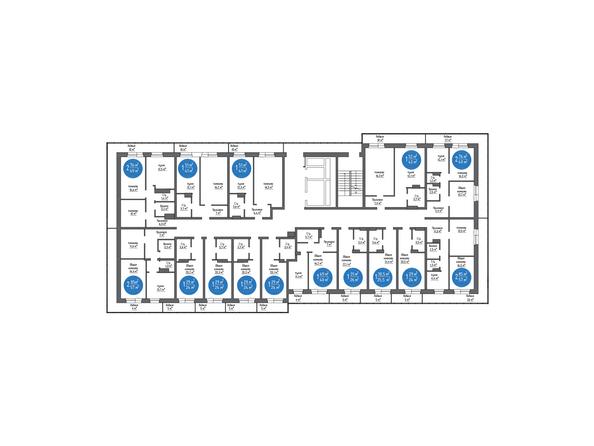 Планировка типового этажа 7 б/с