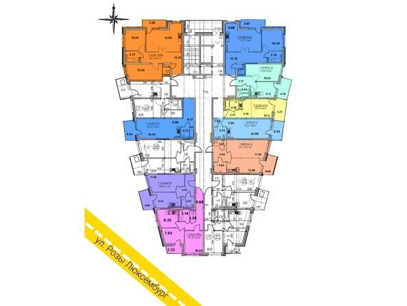 Планировка 2-8 этажей