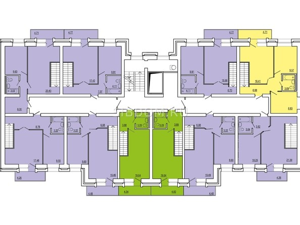 Планировки Жилой комплекс СНЕГИРИ, дом 2 - 3 секция 10 этаж (двухуровневые)