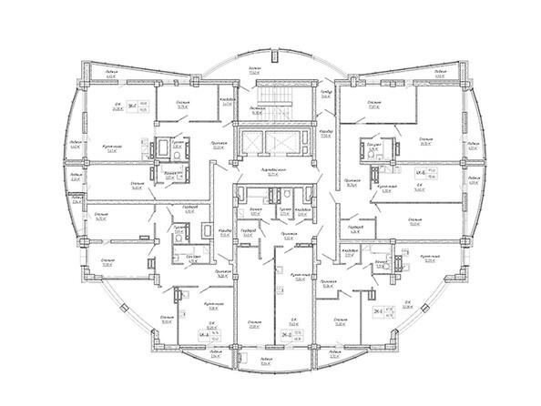 Планировки Жилой комплекс ДОМ НА СИБИРСКОЙ - Планировка 16 этажа