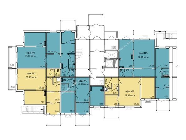 Планировки Жилой комплекс Иннокентьевский, 3 мкр, дом 3 - 5 подъезд, 1 этаж