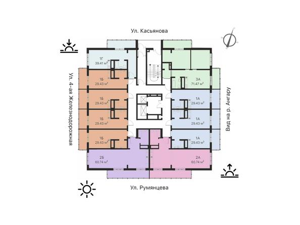 Планировка 11-19 этажей