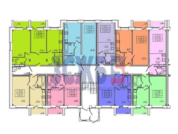 Планировки Жилой комплекс НА ЛЮБИНСКОЙ - Планировка 1 этажа