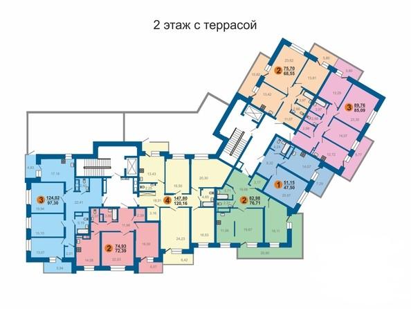 Планировки Жилой комплекс БЕЗОБЛАЧНЫЙ, дом 2 - 2 этаж