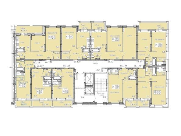 Планировка типового этажа. Блок-секция 2