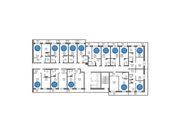 Планировка типового этажа, 2 б/с