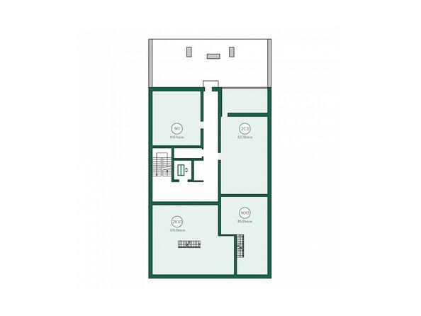 Блок-секция 1. Планировка 9 этажа