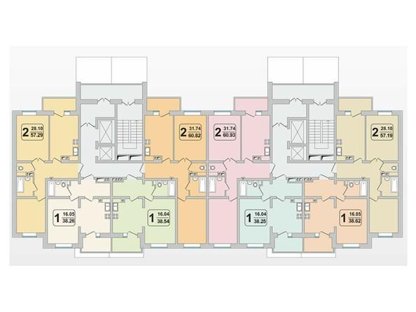 Планировки Жилой комплекс ГРАНД-ПАРК, б/с 1.1 - Планировка 2 этажа
