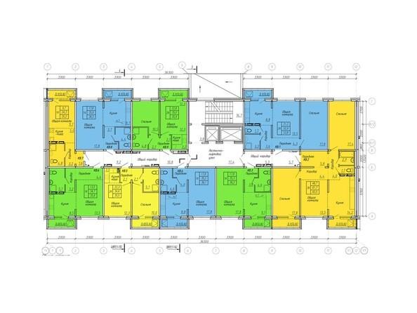 Планировки Жилой комплекс ВРЕМЕНА ГОДА, дом 108 - Планировка типового этажа, 2 б/с