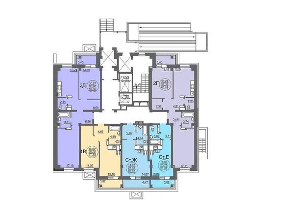 Планировки Жилой комплекс МАТРЁШКИ, дом 6 - Планировка 1 этажа, 1 б/с