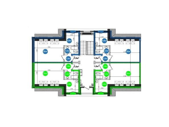 Планировка 1-комнатной квартиры на 3 этаже