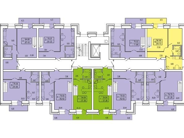Планировки Жилой комплекс СНЕГИРИ, дом 2 - 3 секция 9 этаж (двухуровневые)