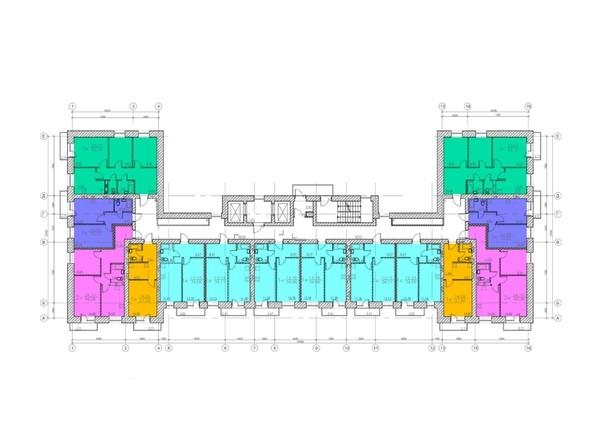Планировки Жилой комплекс УЮТНЫЙ ДВОРИК - планировка типового этажа