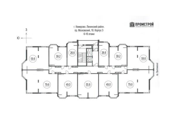 Планировка 6-16 этажей
