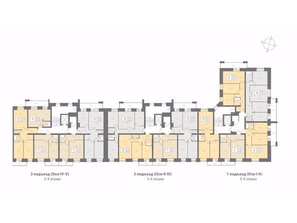 Планировки Жилой комплекс ДИНАСТИЯ , 1 этап - Планировка типового этажа