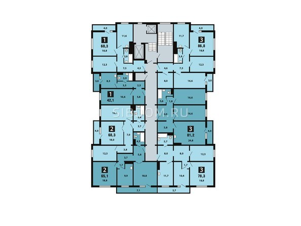 Планировка 17 этажа