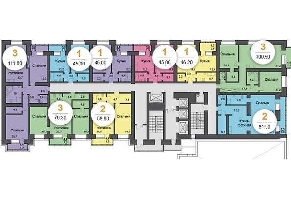 План 11 этажа, 5 подъезд
